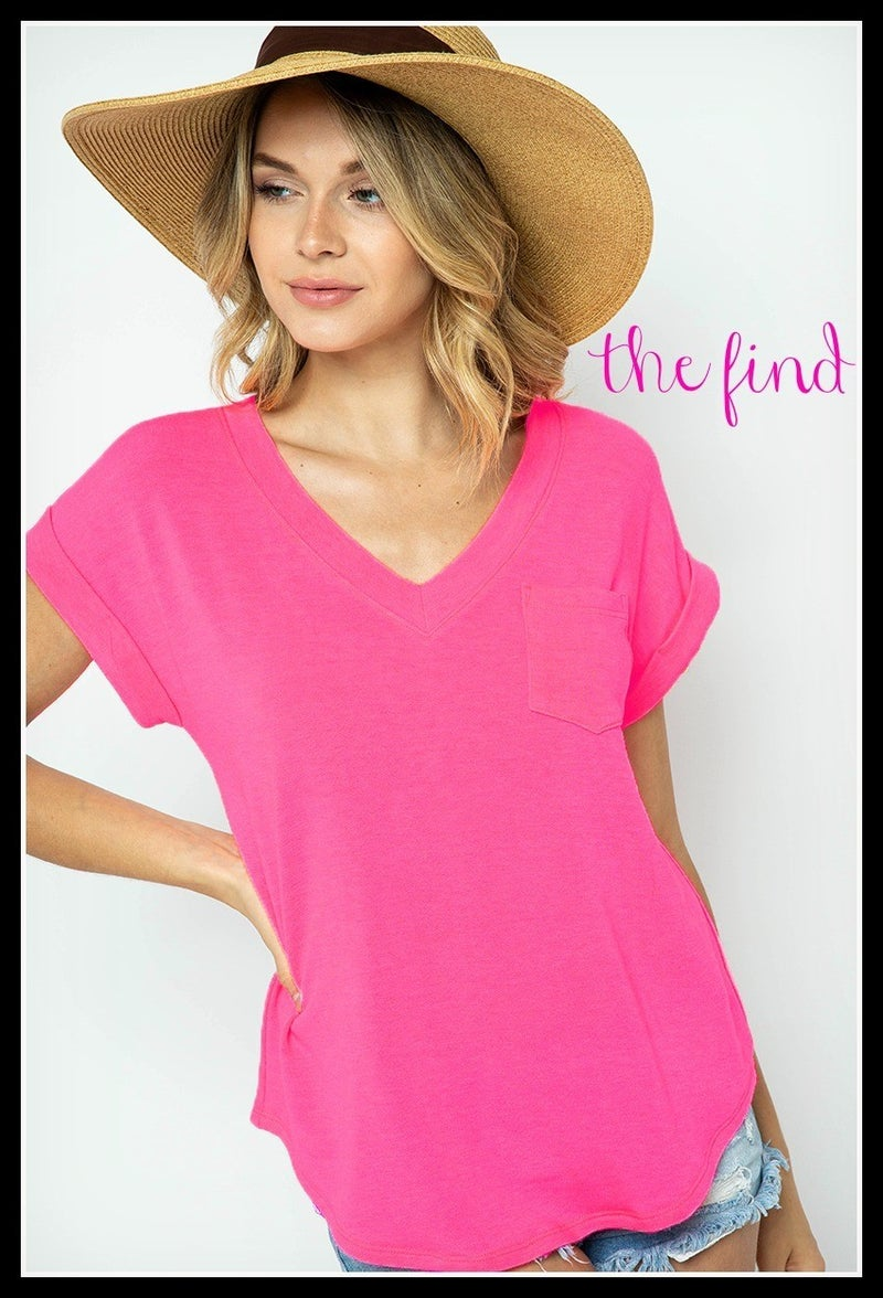Preston Top in Neon Pink