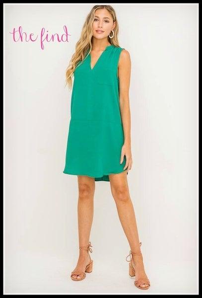 Brighton Dress in Green