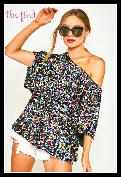 Sierra Sequin Top