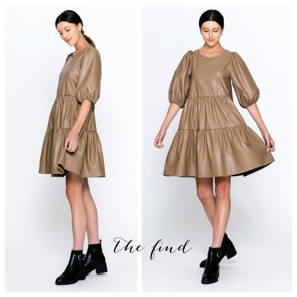 Becker Vegan Leather Dress