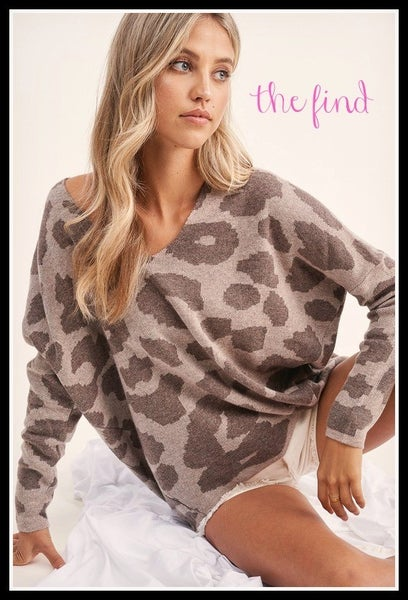 Bailey Leopard Sweater in  Mocha