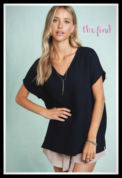 Duncan Top in Black *Final Sale*