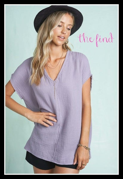 Duncan Top in Lavender *Final Sale*