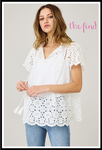Lacy Eyelet Top