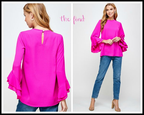 Reagan Top in Fuchsia