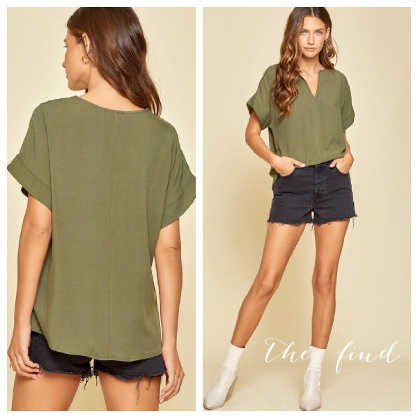 Andrea Top in Olive
