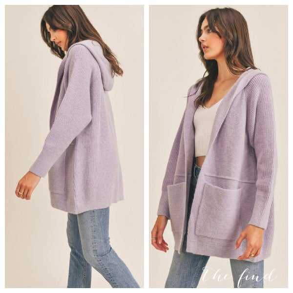 Candace Cardigan in Lavender