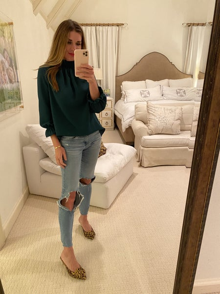 Betsy Top in Hunter Green