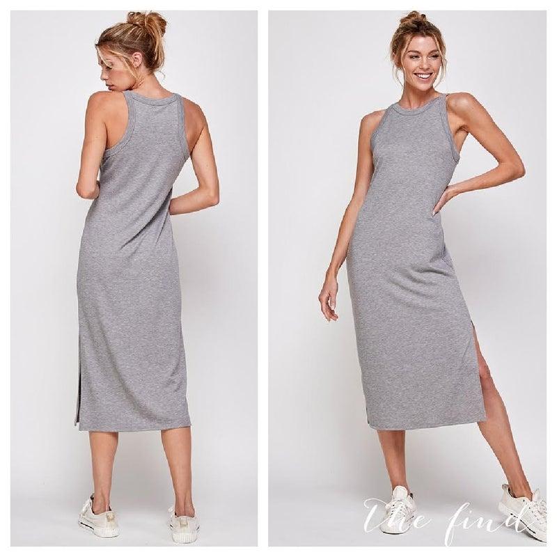 Kelsey Runaround Dress in Grey