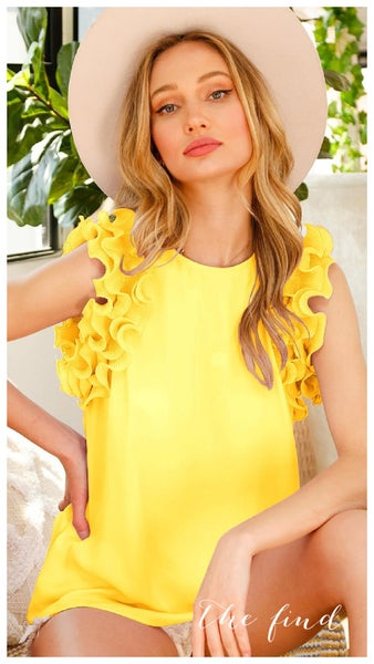 Veronica Top in Yellow