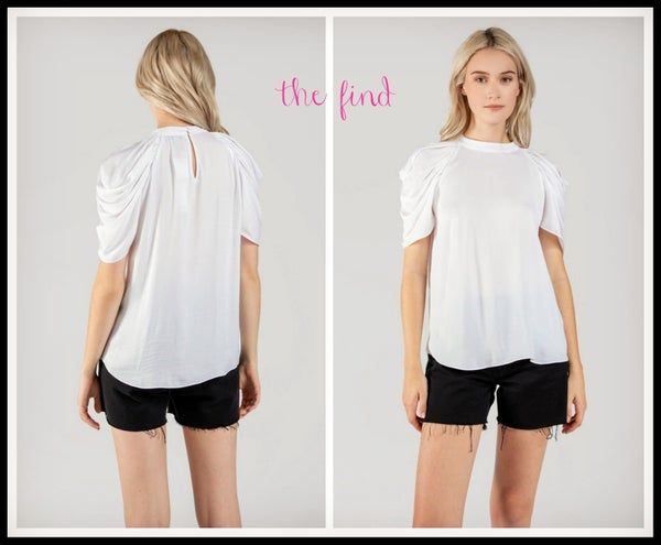 Megan Top in White *Final Sale*