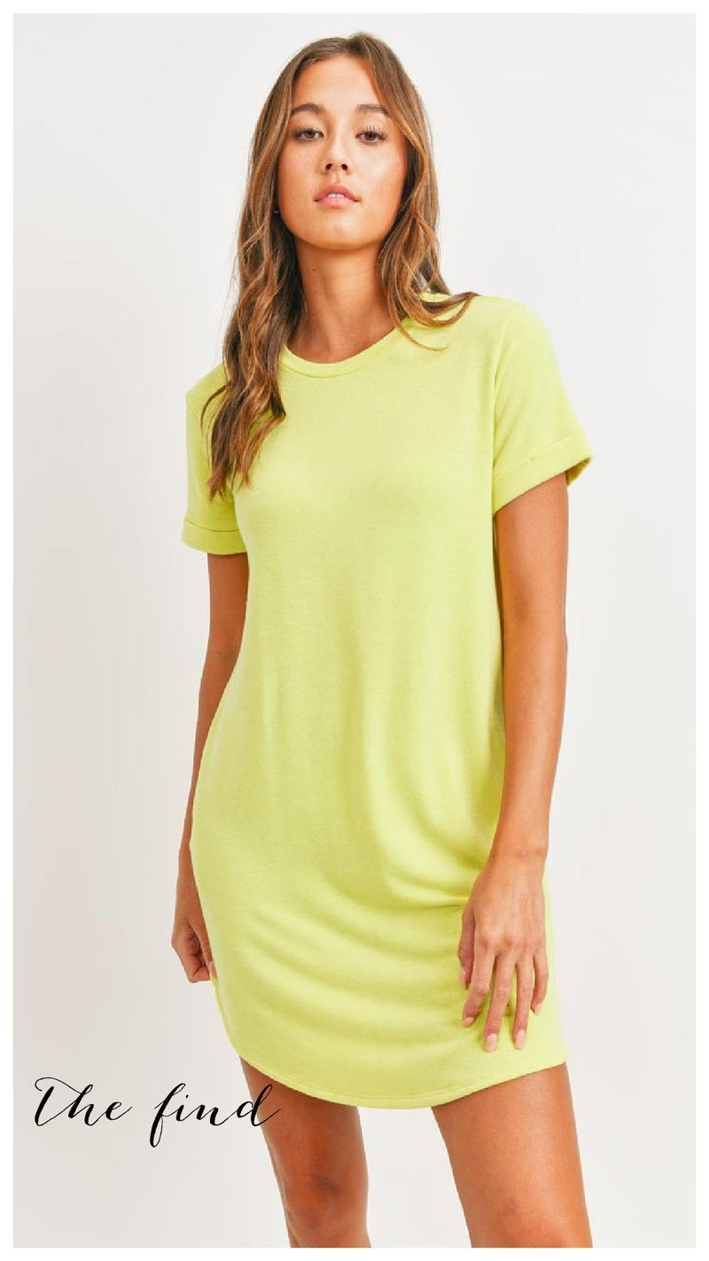 Wilshire Dress in Lemon