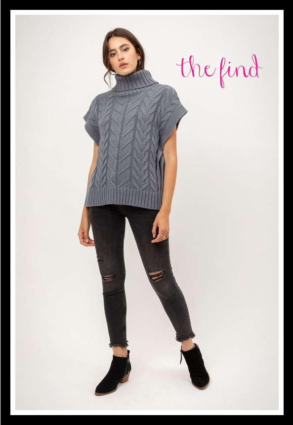 Ava Cable Knit Top