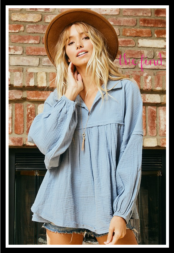 Hannah Top in Chambray
