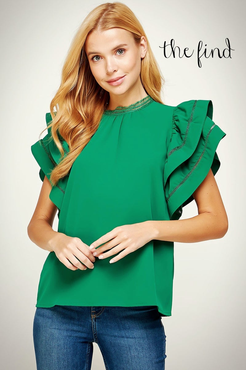 Rosedale Top in Emerald