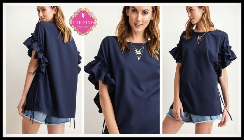 Waggoner Top in Navy *Final Sale*
