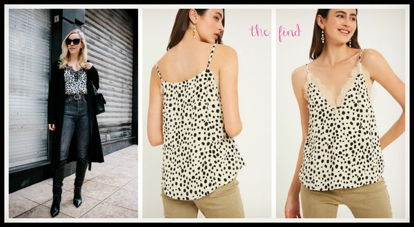Avery Leopard Cami in Ivory *Final Sale*