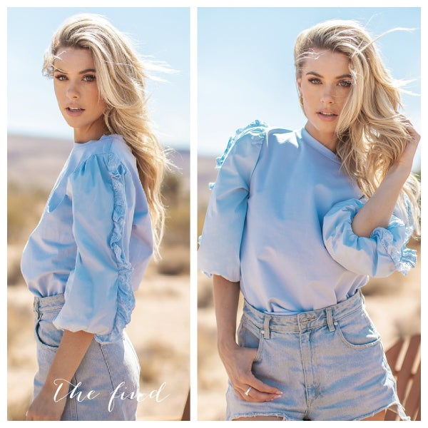 Hadley Top in Chambray
