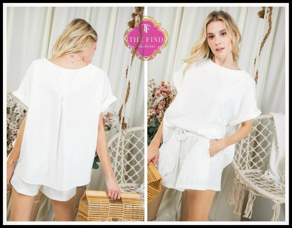 Olivia Short Set in White