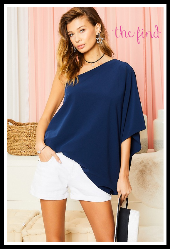Kennedy Top in Navy