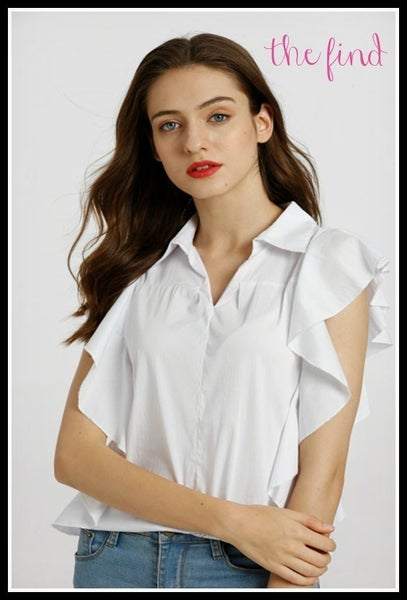 Brinkley Top in White *Final Sale*