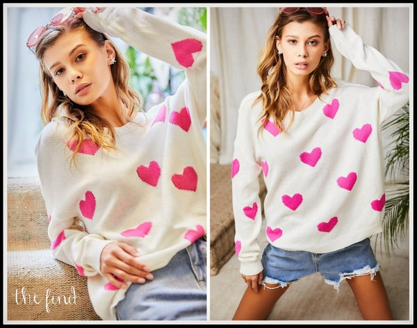 Val Heart Sweater