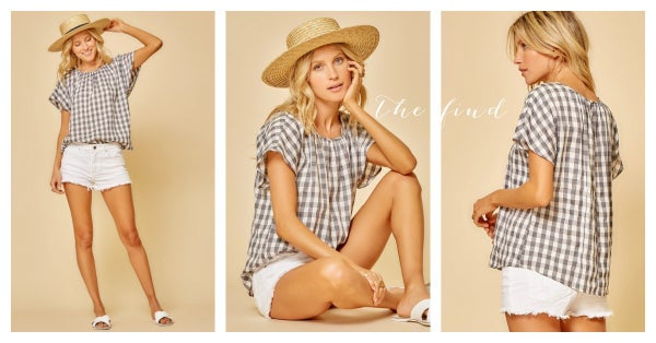 Meredith Gingham Top