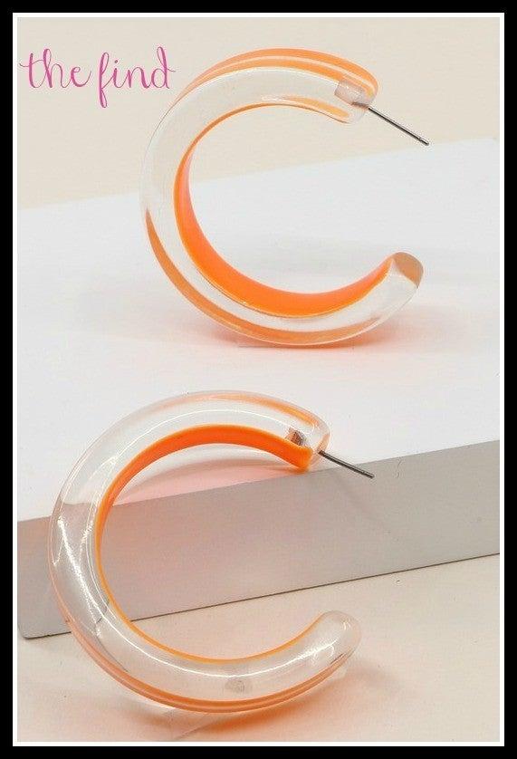Palm Springs Earrings in Orange *Final Sale*