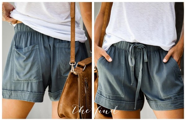 Blakely Shorts in Deep Blue