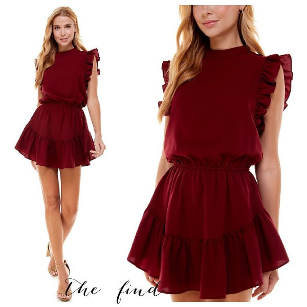 Wren Dress in Burgundy