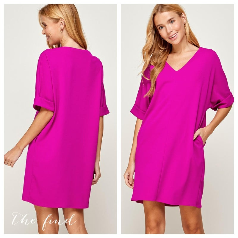 Lucy Dress in Magenta