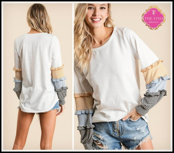Hailey Top in White *Final Sale*
