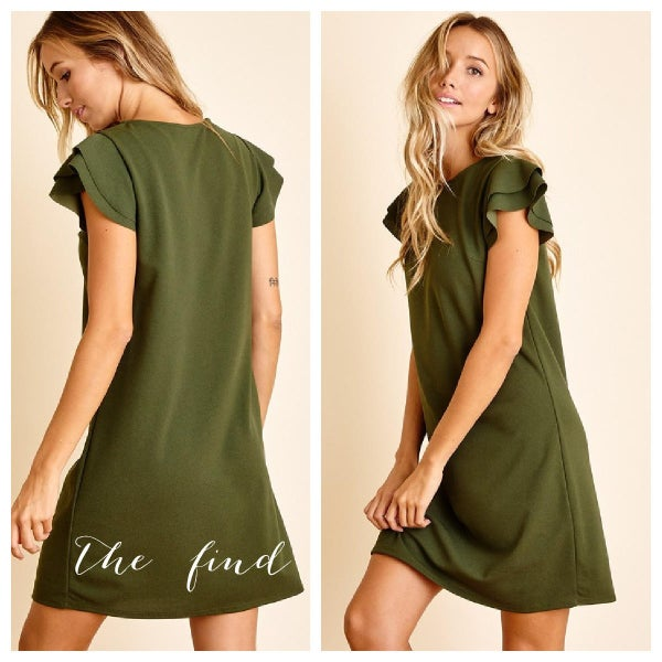 Paige Dress in Olive