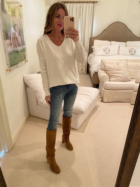 Reed Sweater in Off White