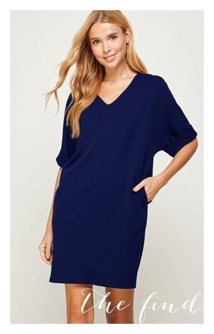 Lucy Dress in Navy