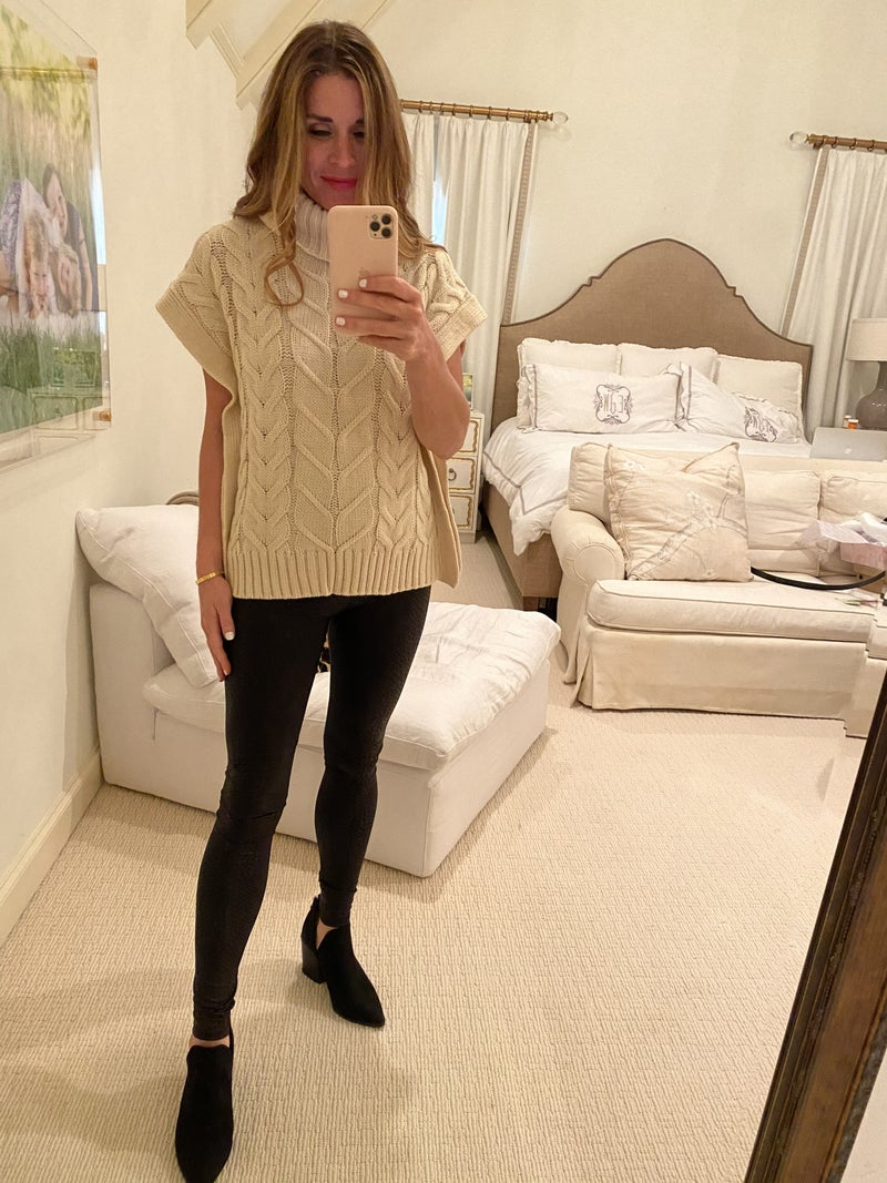 Ava Cable Knit Top in Ivory