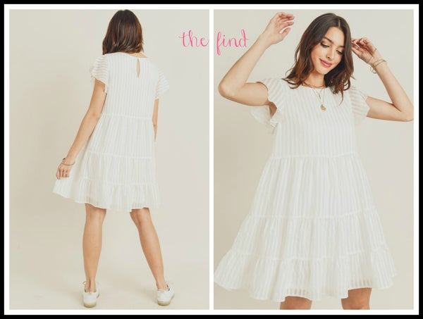 Cara Dress in White *Final Sale*