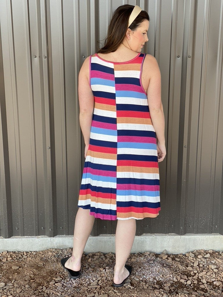 Bom Bom Striped Tank Dress
