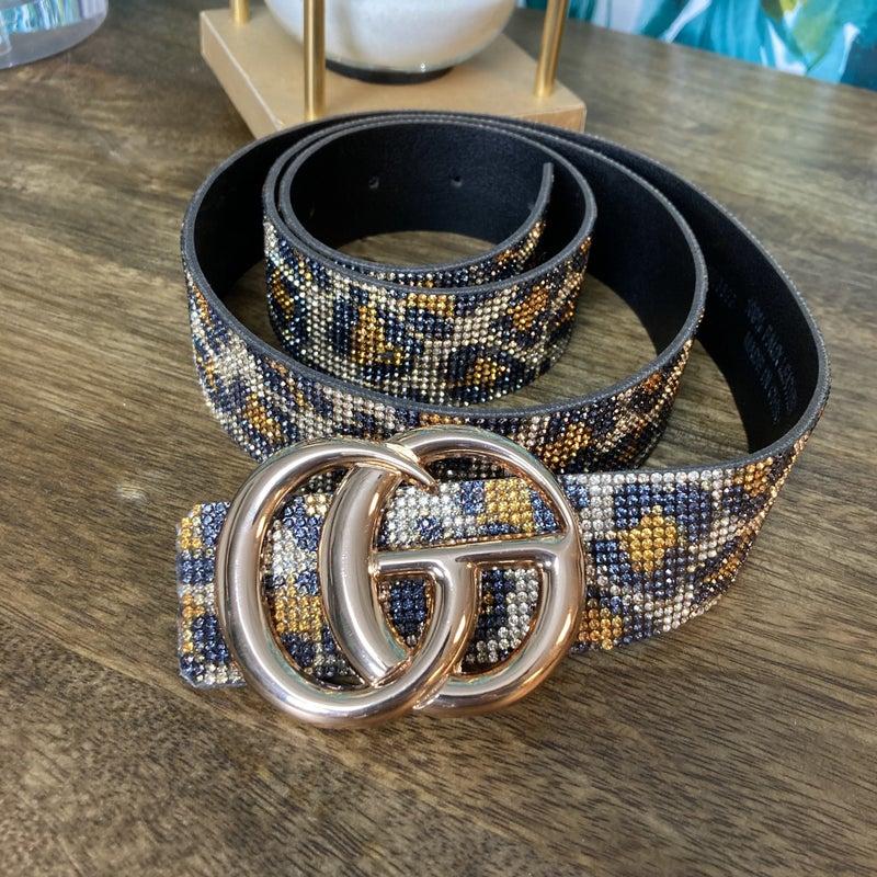Leopard Sparkle GG Belt
