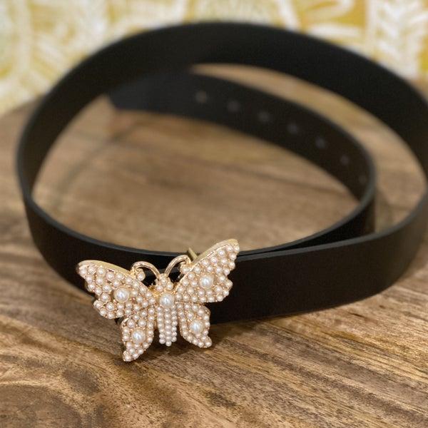 Black Gold Butterfly Belt