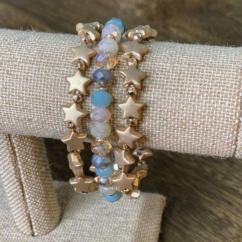 Beaded Star 3 Bracelet Set