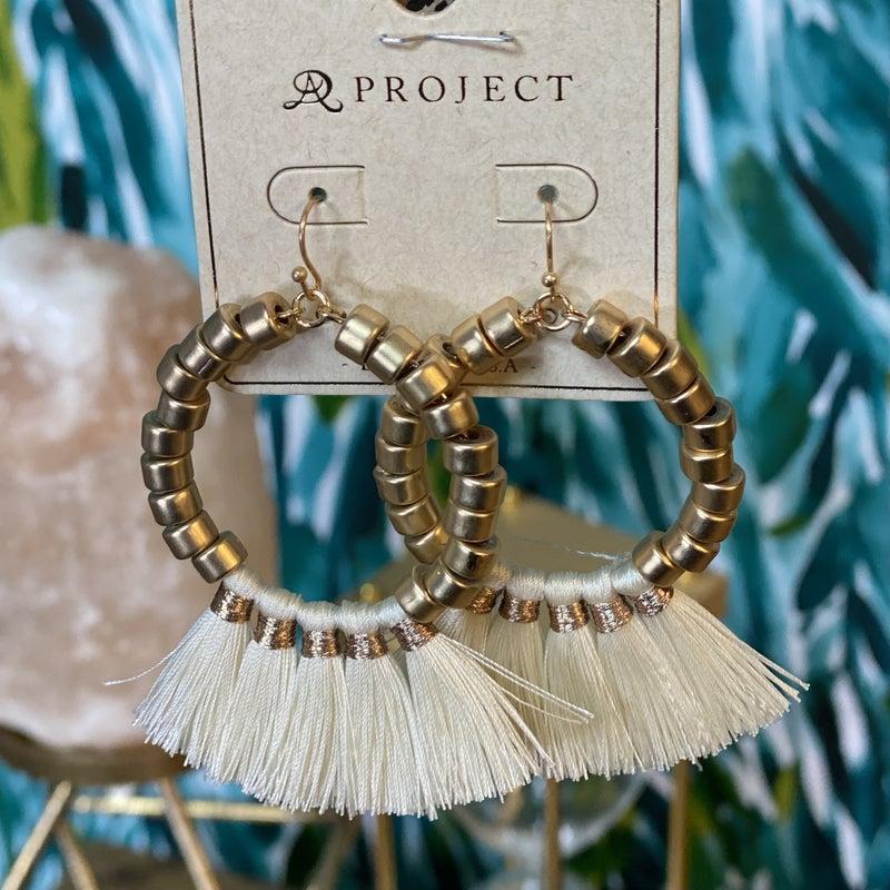 Natural Gold Hoop Fan Earrings *Final Sale*