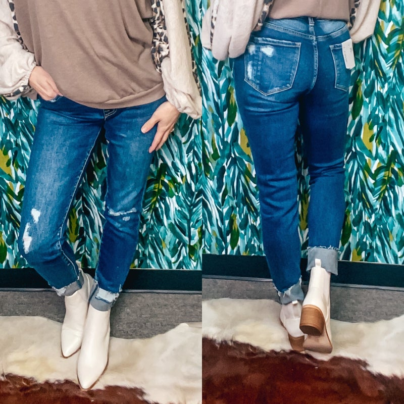 "Vervet HAYLIE ""Zeke"" High Rise distressed Jeans"