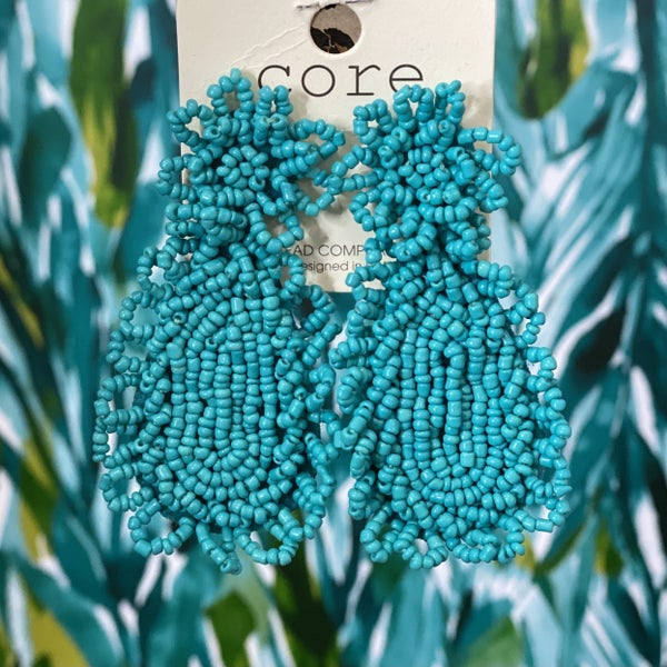 Seed Bead Earrings Turquoise