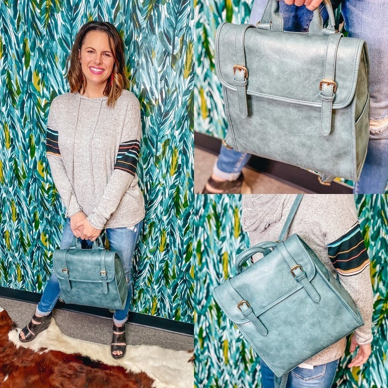 Teal Convertible Backpack