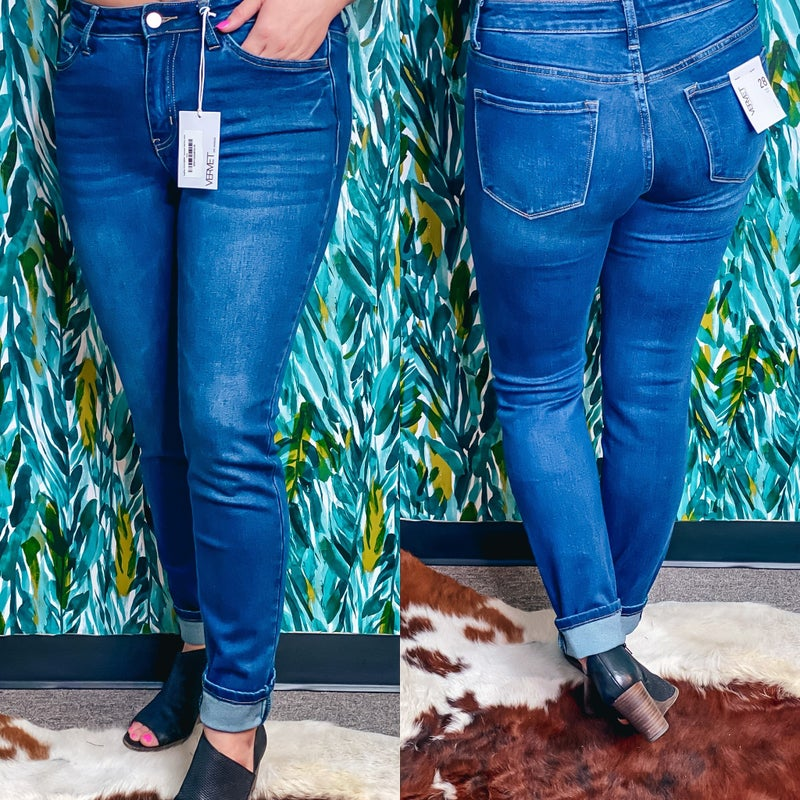 "Reg/Plus Vervet AMBER ""Teardrops"" Mid-Rise Jeans *Final Sale*"