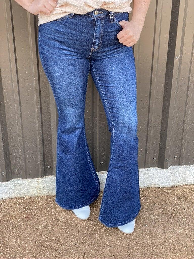 "Vervet ""Bella"" High Rise Super Flare Jeans"