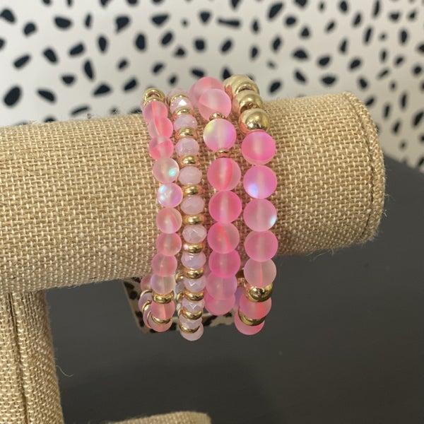 Bright Pink Bracelet Set