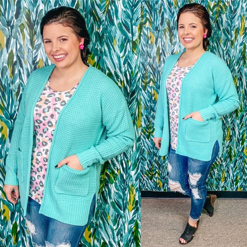 Zenana Mint Cardigan with Pockets *Final Sale*