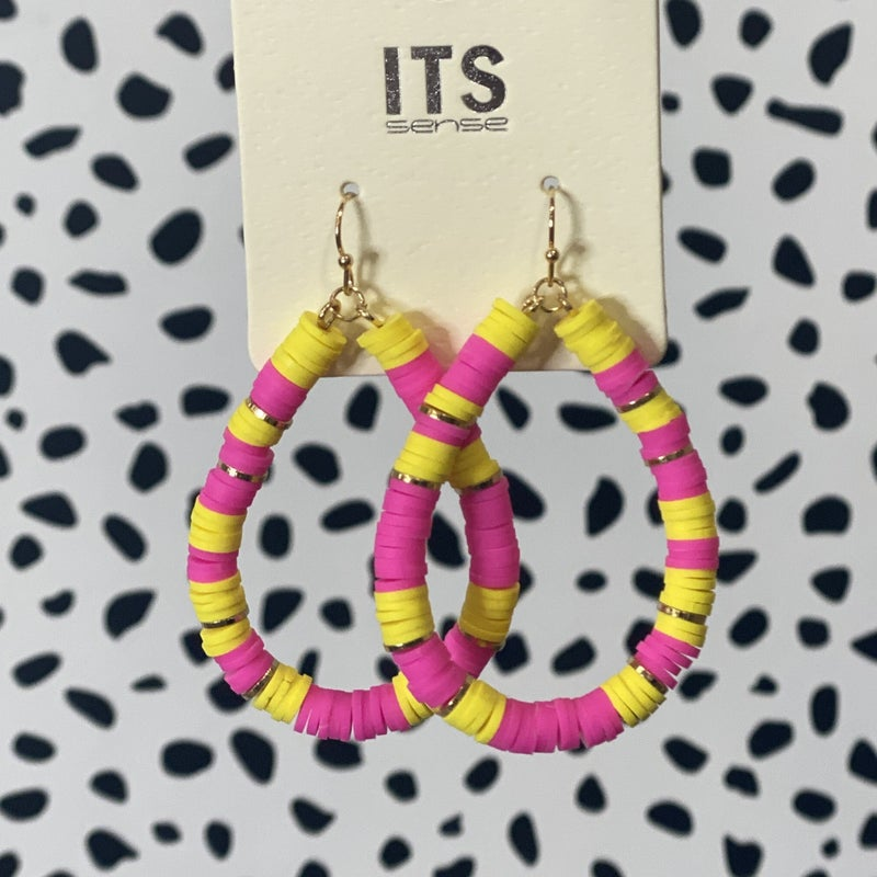 Bright Stacked Pear Hoops